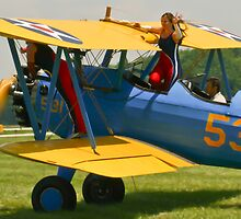 The Stearman Wingwalkers getting ready by Henry Plumley