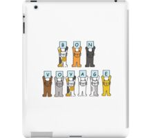 Bon Voyage, fun cats . iPad Case/Skin