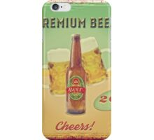 50s Premium Beer Pure Malt  iPhone Case/Skin