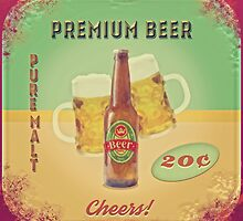 50s Premium Beer Pure Malt  by Eva Nev