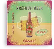50s Premium Beer Pure Malt  Metal Print