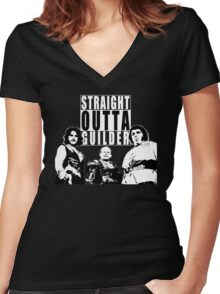Straight Outta Guilder v2 Women's Fitted V-Neck T-Shirt