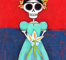 Frida Skelly with Calla Lilies by Pink-Ivy