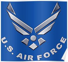 U.  S. Air Force Symbol for Dark Colors Poster
