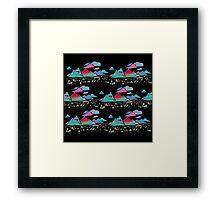 candy mountains over lollypops landscape Framed Print