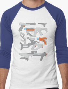 GunPlay Cluster Men's Baseball ¾ T-Shirt