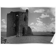 Flint Castle. North East tower. Poster