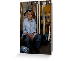 Old Man, Chorsu Bazaar Greeting Card