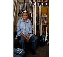 Old Man, Chorsu Bazaar Photographic Print