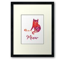 Cat says Meow Framed Print