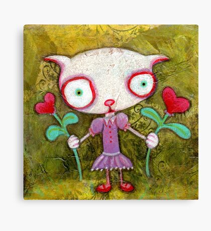 Kitty Love Canvas Print