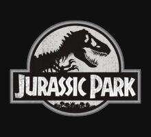 Jurassic Park Logo Grunge Kids Tee