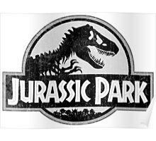 Jurassic Park Logo Grunge Poster