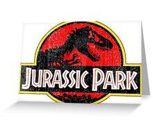 Jurassic Park Logo Grunge Greeting Card