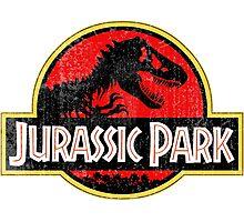 Jurassic Park Logo Grunge Photographic Print