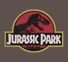 Jurassic Park Logo Grunge Baby Tee