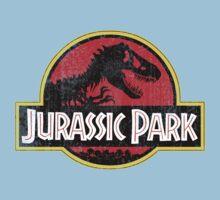 Jurassic Park Logo Grunge One Piece - Short Sleeve