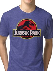 Jurassic Park Logo Grunge Tri-blend T-Shirt