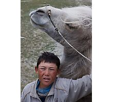 Kyrgyz cameleer boy Photographic Print