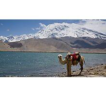 Phone coverage at Lake Kara Kul Photographic Print