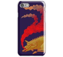 Snoring Dragon iPhone Case/Skin