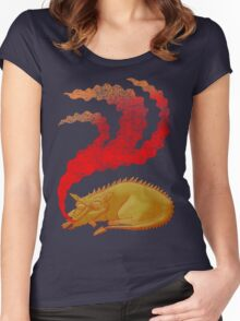 Snoring Dragon Women's Fitted Scoop T-Shirt