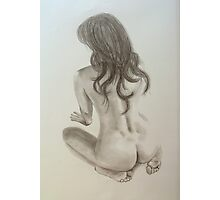 Pencil Nude Photographic Print