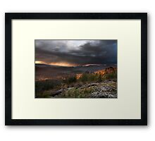 Storm from Keppels lookout Winter 2008 Framed Print