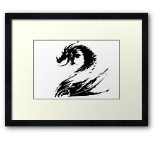 Dragon GW2 Black Framed Print