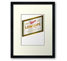 American Low Life Beer Label Framed Print