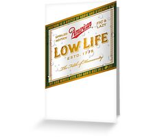 American Low Life Beer Label Greeting Card