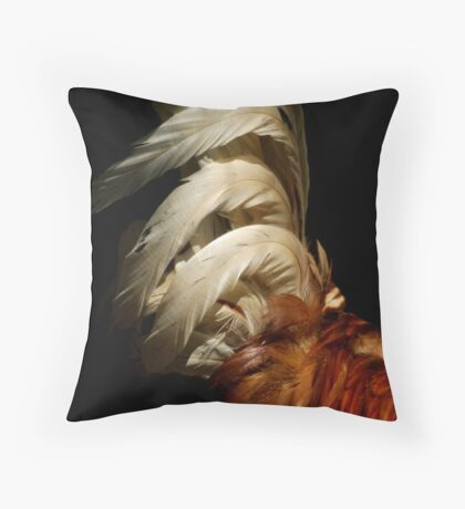 Rooster Plumage Throw Pillow