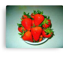 Fresh Red Strawberries Canvas Print