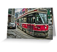 Toronto Street Car Greeting Card