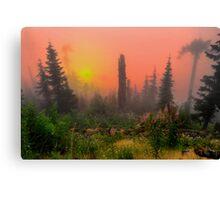 Buck Mountain Glow Canvas Print