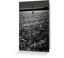 Wind Surfing - West Kirby Marine Lake  Greeting Card