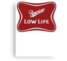 American Low Life Beer Logo Parody Canvas Print