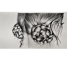 Braids in buns Photographic Print
