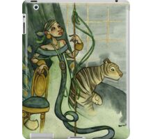 Woman With Tiger and Chair iPad Case/Skin