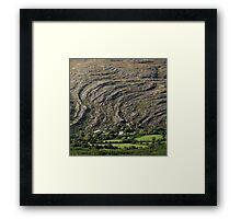 Mountain waves Framed Print