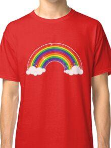 Double Rainbow: Rainbow-Dirty Logo Classic T-Shirt