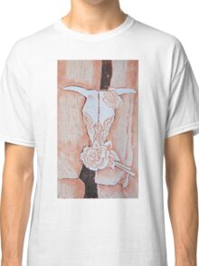 after Georgia O'Keeffe's Cow's Skull with Calico Roses  Classic T-Shirt