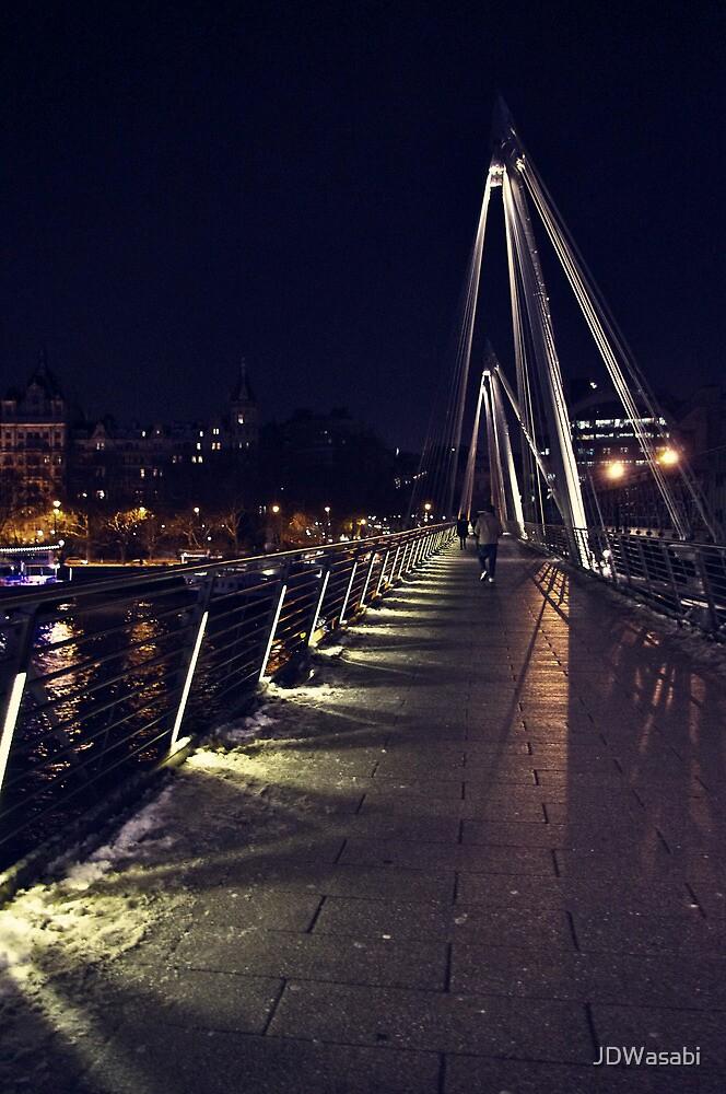Golden Jubilee Bridge at Evening Winter by JDWasabi