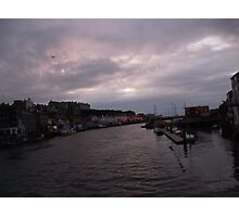 Sunset over Whitby Photographic Print