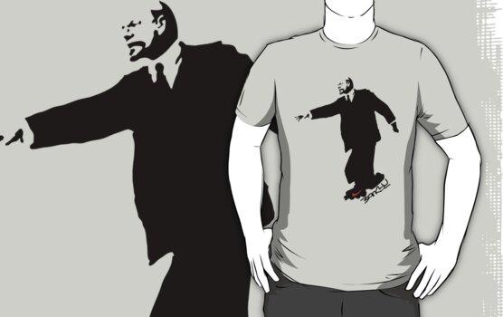 Banksy's Lenin on Rollerskate by stabilitees
