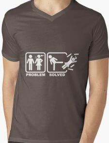 Problem Solved Mens V-Neck T-Shirt