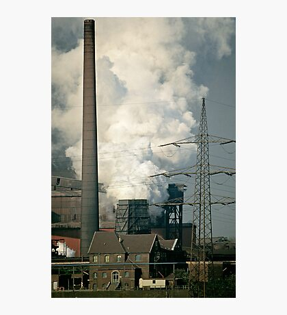 Rheinhausen steel works in early 1980s, Germany. Photographic Print