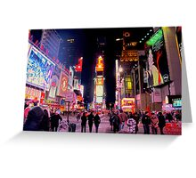 Time Square - Artificial Daylight Greeting Card