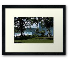 Relaxing At Niagara Framed Print