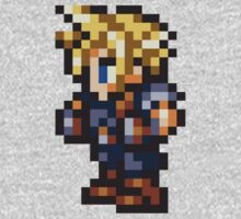 Cloud Strife Sprite - FFRK - Final Fantasy VII (FF7) One Piece - Long Sleeve
